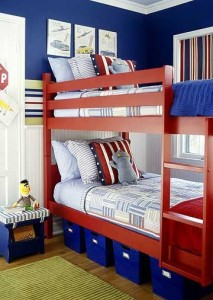 red blue bunks