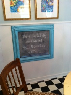 Blue quote board whitman