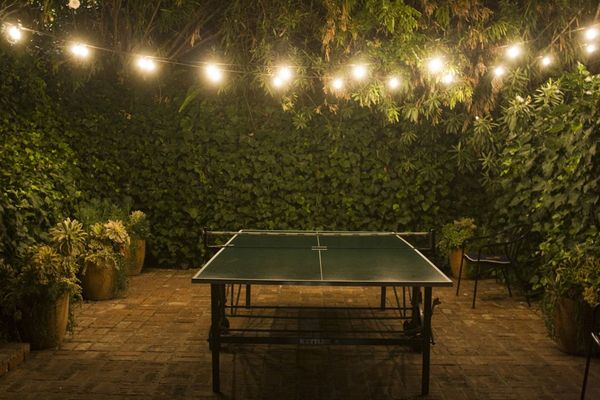 lights and ping pong
