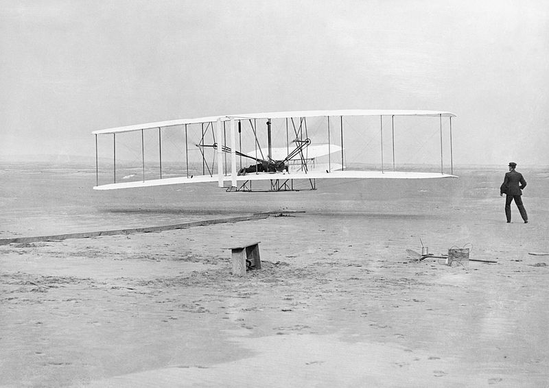 The_Wright_Brothers;_first_powered_flight_HU98267