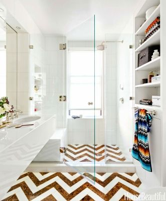 bathroom chevron
