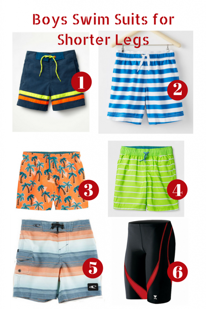 Swim suits for shorter legs